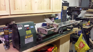 Wood Lathe and copy attachment