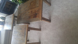 Home crafted barn wood coffee and end table set Moose Jaw Regina Area image 2