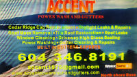 ACCNT Power Wash and Gutters....Roof De Moss...Windows...Gutters