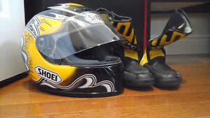 Teknic Women Motorcycle Gear with SHOEI Motorcycle Helmet