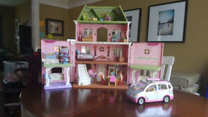 Fisher Price Loving Family Grand Doll House w/ Car + Accessories