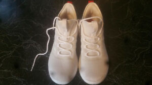 White Adidas Men's CF Ultimate Basketball Shoes 12's