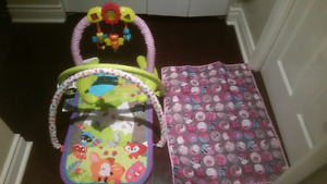 Barely used Play Mats and Jackets (LIKE NEW! )