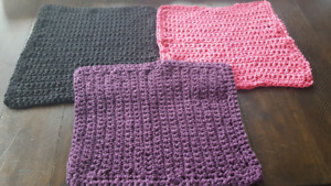 New knitted & crochet dish  cloths