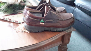 Almost new steel toe work shoes