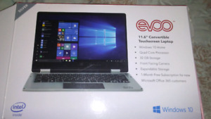 New touch screen laptop