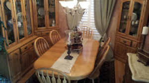 Dining table set.