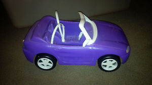 Barbie Convertible Car with play cell phone