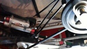 walker evans remote shocks in rear skidframe from a pro x