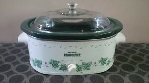 Medium size Rival stoneware slow cooker - $15 New condition