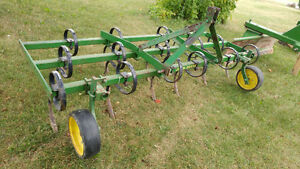 John Deere Tractor Accessories - Cultivator, Blade and Plow
