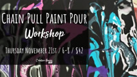 Paint Pour Chain Pull Technique Class at Creative Haven YXE