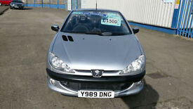 PEUGEOT 206 CC CABRIOLET CONVERTIBLE 2.0SE VERY LOW MILES HISTORY CLEAN 2001