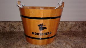 Moosehead beer wooden  bucket