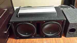 """12"""" W3 subs JL  with 1500w amp"""