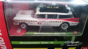 AFX autoworld ghost busters ecto-1 magnatraction 4 gear chassis