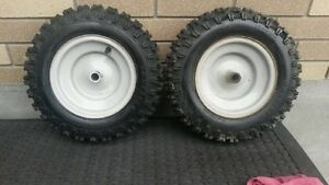 Snowblower Tires and Rims. Carlisle 4.80-8 NHS
