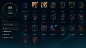 Compte League of Legends 2014 (120/143 champions)