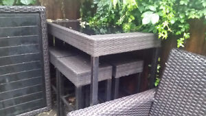 Hampton Bay Beautiful High table/ Bar Stool Set.. amazing price