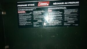 3 burner propane coleman stove great condition and working order