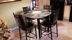 4 Chair Bistro Kitchen Set