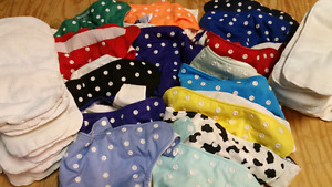Huge lot of Happy Heinys cloth diapers