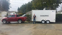 Truck & 14 ft Enclosed Trailer for Moving and Hot Shots.