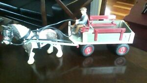 <REDUCED> Schleich of Germany Toy Horse Drawn Wagon