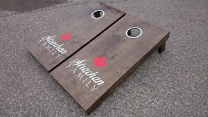 Hand Crafted Cornhole Boards and Beanbags