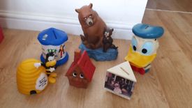 Vintage money box collection £5 the lot inc donald duck tsb barnardo