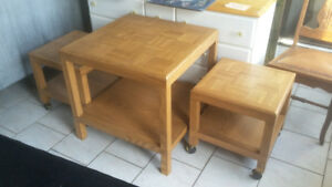 Three Wooden Coffee Tables