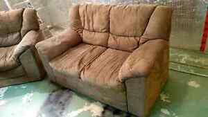 Microsuede Sofa (Love Seat) and Chair set