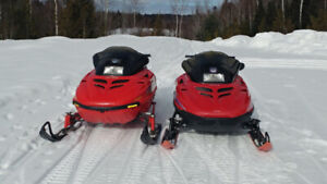 Package Deal Two Snowmobile Part Sled And A Trailer For $3500
