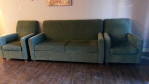 Sofa Bed & 2 Chairs - PPU