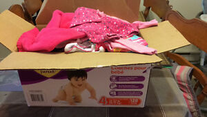 Box full of summer and fall baby girl clothesi