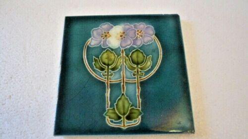 Pretty Art Nouveau Tile, Early 1900s