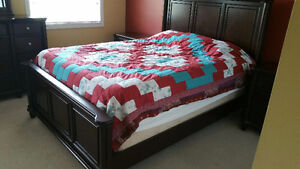 Gently used quality bedroom set (Mattress not included)