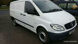 Mercedes Vito 2008 twin side doors. Tow bar. Good condition.