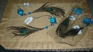 GORGEOUS GENUINE TAIL EYE PEACOCK FEATHERS HANGING DECORATIONS Kitchener / Waterloo Kitchener Area image 8