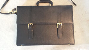 NEW  real leather briefcase