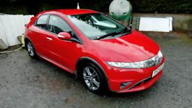 08 Honda Civic 5 Door Red Full Mot Oct 2022 good driver