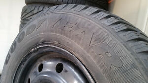 15 inch Goodyear Winter Tires on Steelies