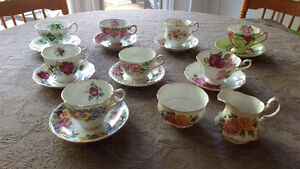 Bone China cups and saucers and creamer and sugar REDUCED Sarnia Sarnia Area image 1