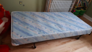 Twin Box Spring and Metal Bed Frame