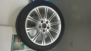 4 BMW Factory Alloy Rims and 5 Goodyear Eagle Sport Radial Tires