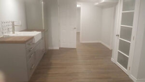 Beautiful NEW 2 bedroom basement apartment -Close to St Lawrence