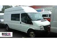 2013 FORD TRANSIT 350 TDCI LWB HIGH ROOF 7 SEAT MESS UNIT WELFARE VAN VAN LWB DI