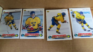 1992-93 NHL UD World Junior Tourn. Sweden rookies
