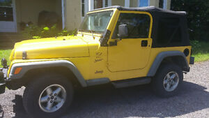GREAT SHAPE 2000 JEEP TJ SPORT ONLY $8,000 OBO