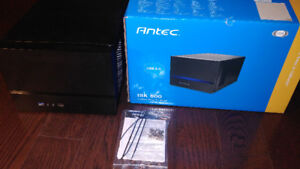 Antec ISK600 Black Aluminum Plastic Mini-ITX Tower Computer Case